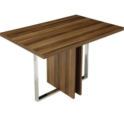 Metal and wooden tables