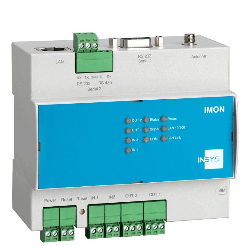 IMON-U300 UMTS/HSPA Fault Monitor, Mobile Radio Router, VPN - IMON-U300 monitors: IOs, Modbus TCP/RTU, Siemens LOGO!TM, SMS, sends: SMS, Email