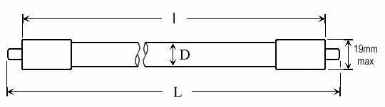 OZONE QUARTZ LAMPS - Lamp Type: O3DP-P1 - null