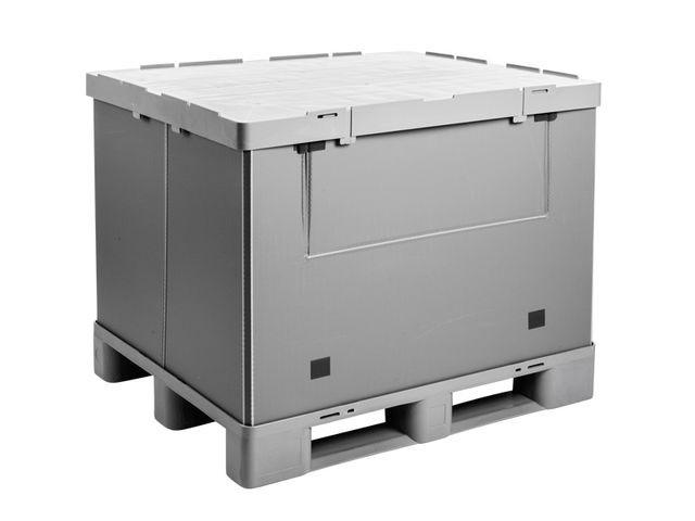 Large Folding Container: Mega-Pack 1000 Hybox - Large Folding Container: Mega-Pack 1000 Hybox, 1200 x 1000 x 940 mm