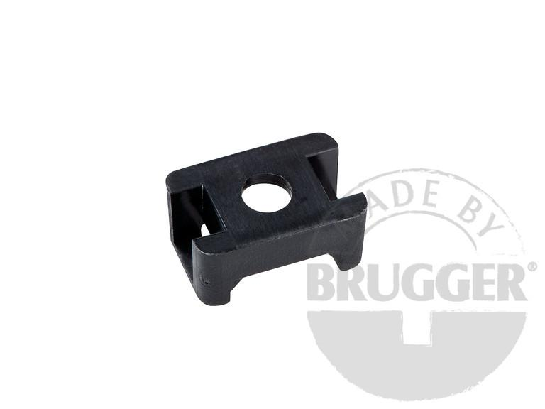 Cable holder, plastic, for magnetic systems, black - null