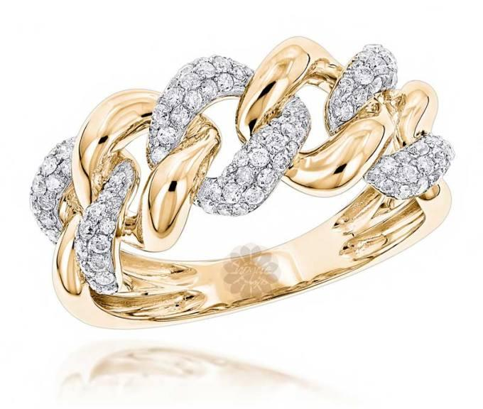 Gold Link Ring -