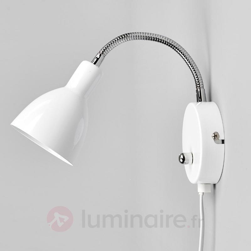 Applique Amrei en métal blanc avec variateur - Toutes les appliques