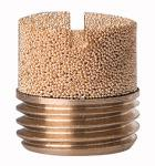 Sintered bronze silencer, Slot, G 1 - Silencers, sintered bronze, slotted (10 bar)