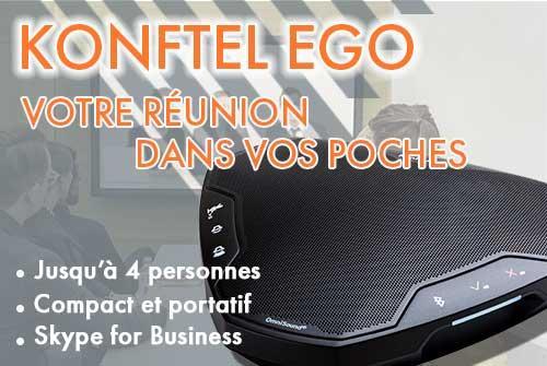 KONFTEL EGO - Poste Audioconférence portable Konftel EGO (USB et Bluetooth)