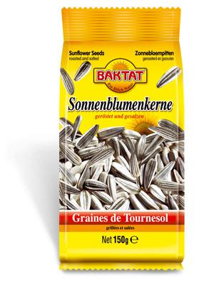 Sunflower seeds, salted - null