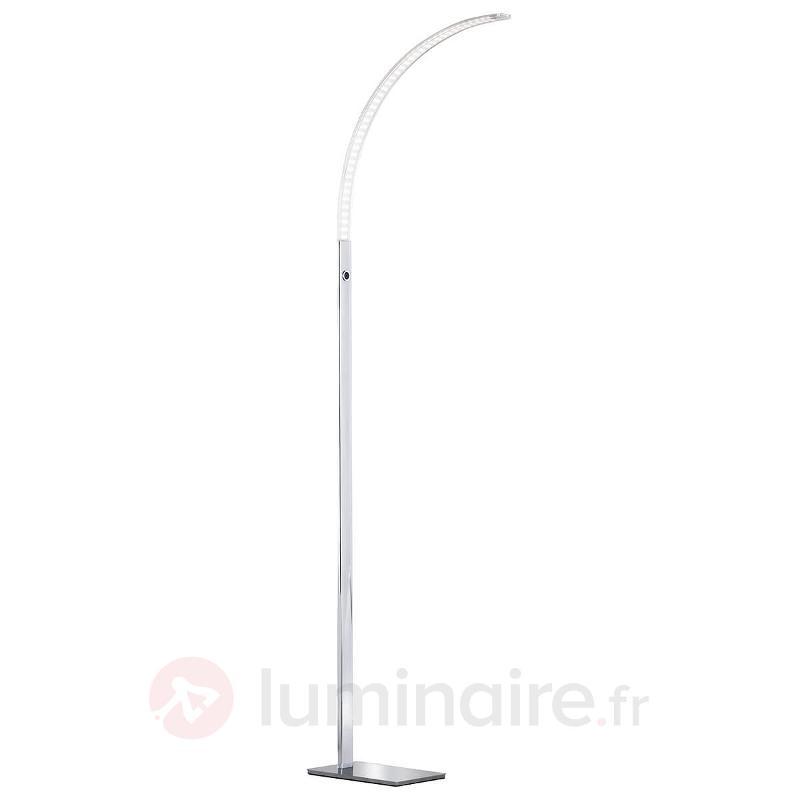 Lampadaire LED légèrement incliné Luz 165 cm - Lampadaires arqués