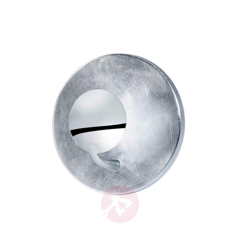 Chrome and silver-coloured LED wall lamp Aurora - indoor-lighting