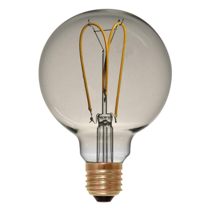E27 4 W 922 LED globe G125 Curved Line gold - light-bulbs