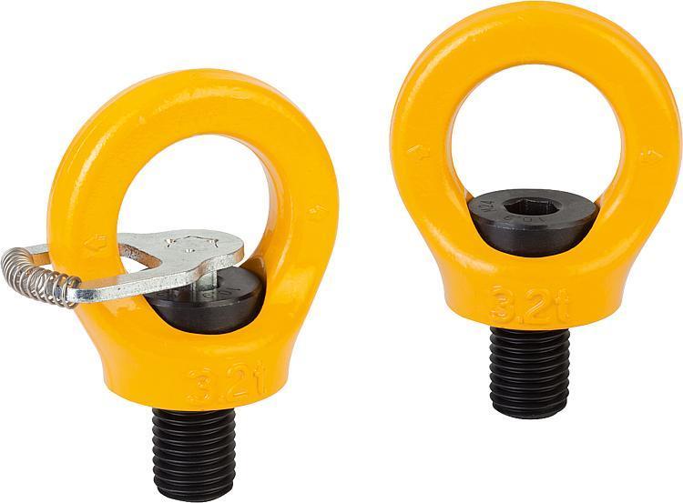 Flexibles Normteilesystem - Ringschrauben drehbar hochfest Güteklasse 10