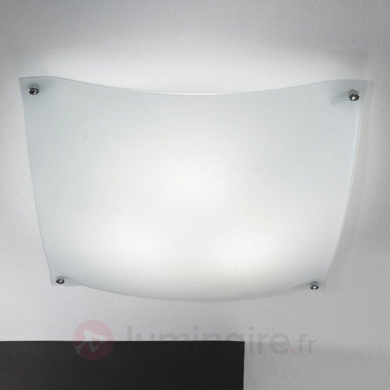 Plafonnier élégant GRACE 40 cm blanc - Plafonniers en verre