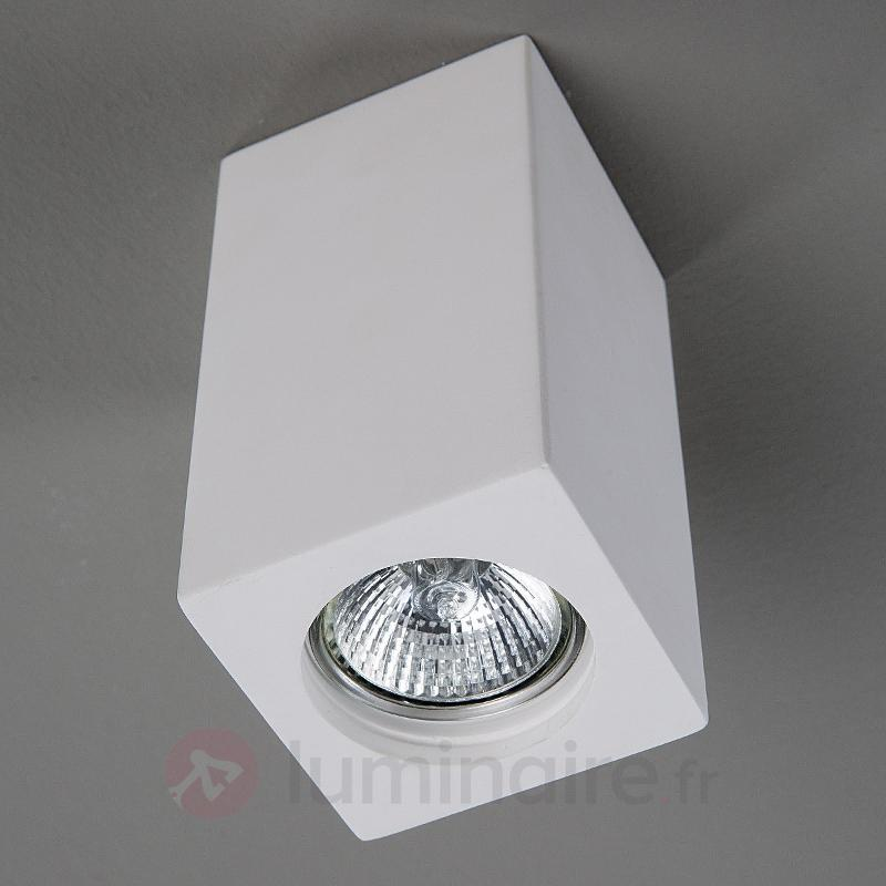 Spot en plâtre Anelie pour ampoule GU10 - Tous les plafonniers