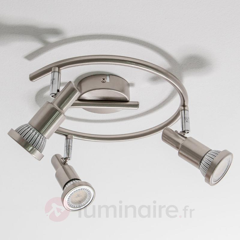 Plafonnier LED Aron rond GU10 - Plafonniers LED