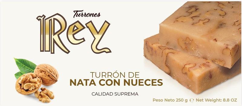 TURRÓN DE NATA CON NUECES - 250GR CALIDAD SUPREMA