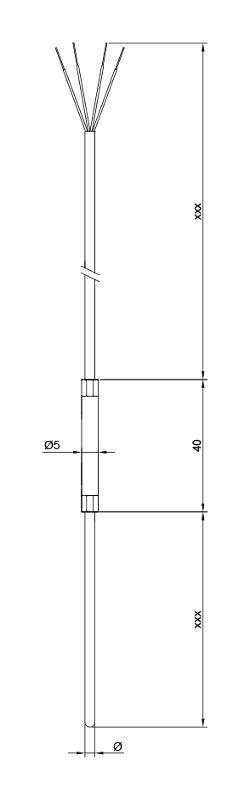 Sheathing | Fibreglass | Pt1000 - Sheathing resistance thermometer