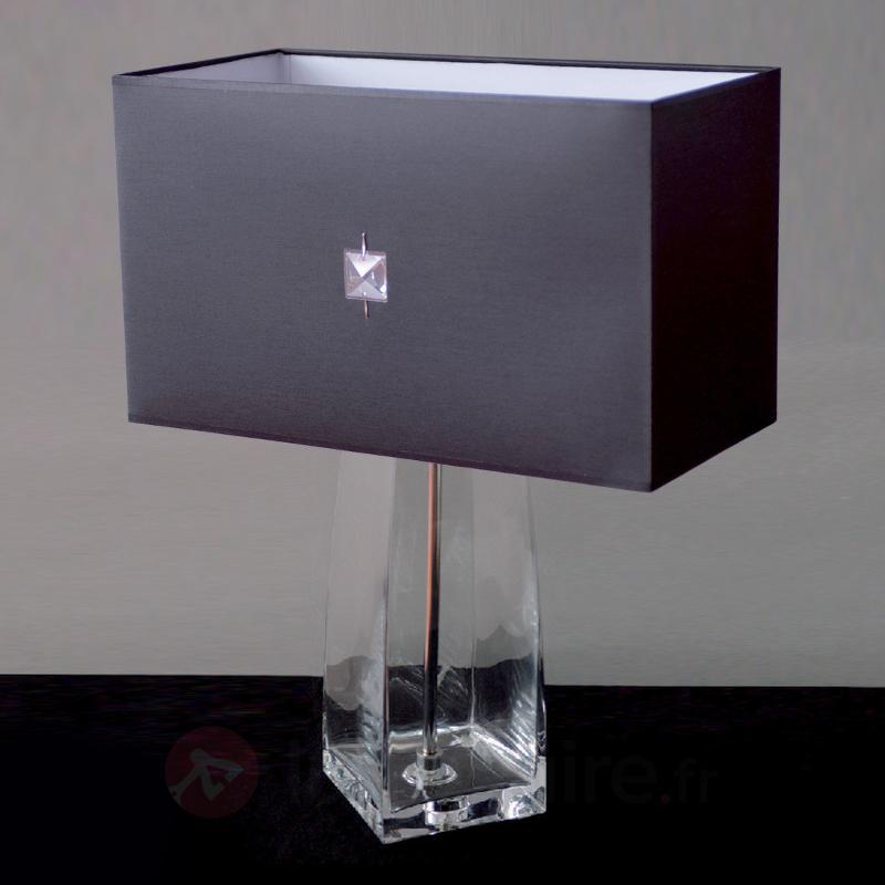 Lampe à poser classique JESSICA cristal transparen - Lampes à poser en tissu