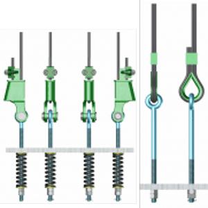 TIGE DE SUSPENSION - Tige de suspension de cabine et de contrepoids d'ascenseur