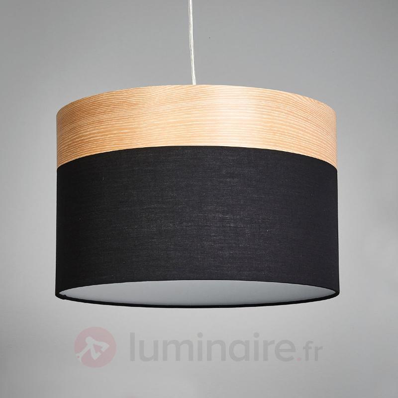 Suspension Libba bois noir - Suspensions en tissu