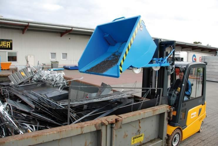 Bac à copeaux, appareil pour chariot élévateur - Bac pour la collecte  et la séparation des matières solides et liquides