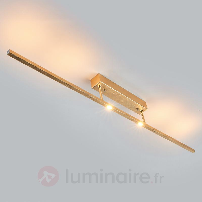 Tolu - plafonnier LED noble finition doré antique - Plafonniers LED