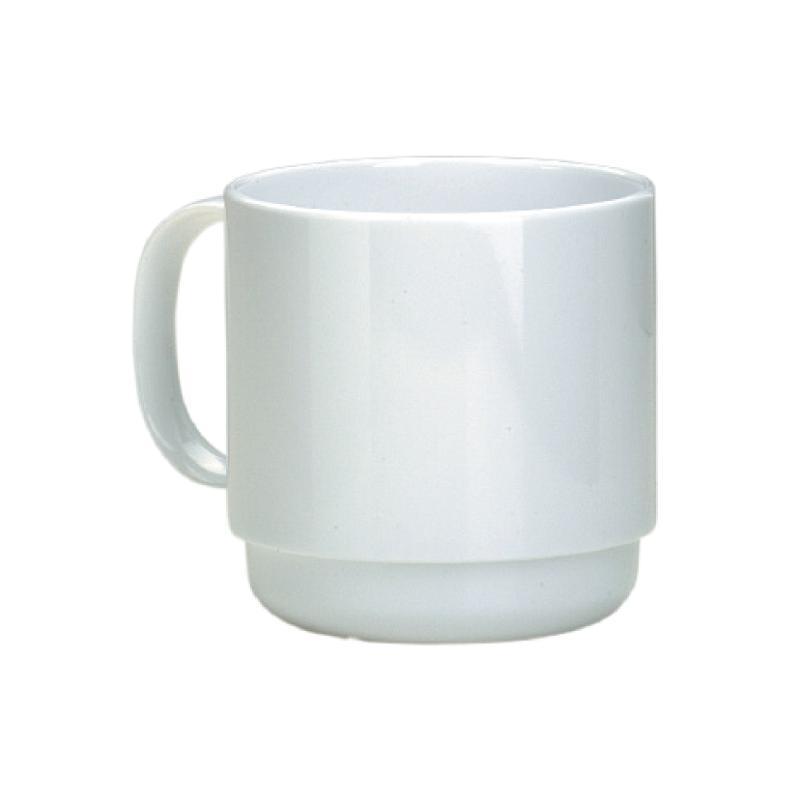 Ornamin Henkelbecher 508, 220 ml, weiß, 10 Stück / Pack - Kaffeepott