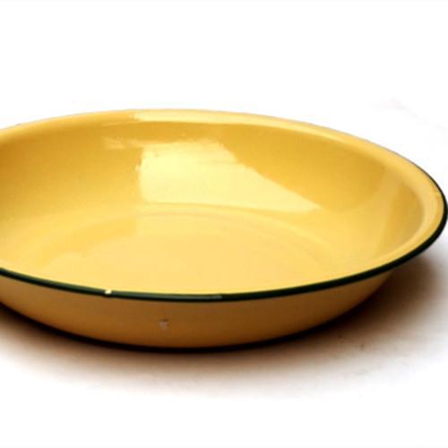Pure color enamel plate 14 cm - 14 cm