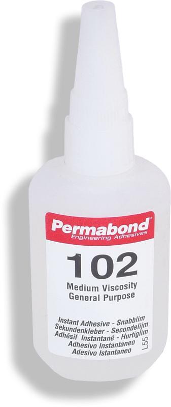 Permabond 102 | 50 g Kunststoff-Flasche mit Auftragsdüse - PB-102-50