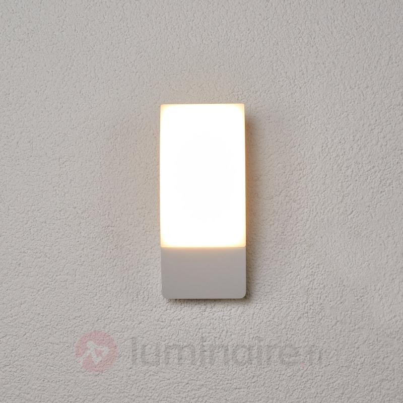 Applique d'extérieur LED blanc Siara forme courbe - Appliques d'extérieur LED