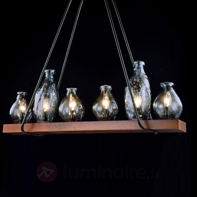 Suspension Flask pourvue de bouteilles en verre - Suspensions rustiques