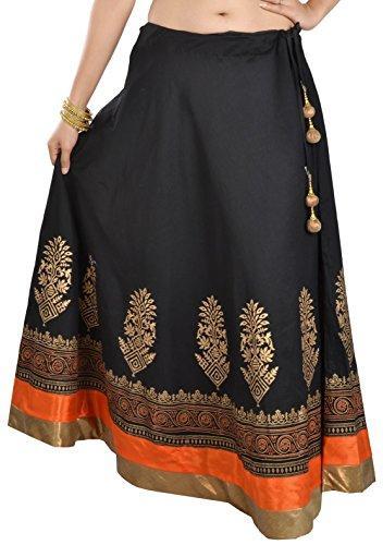 women's hand block skirt - 100% cotton high quality fabric