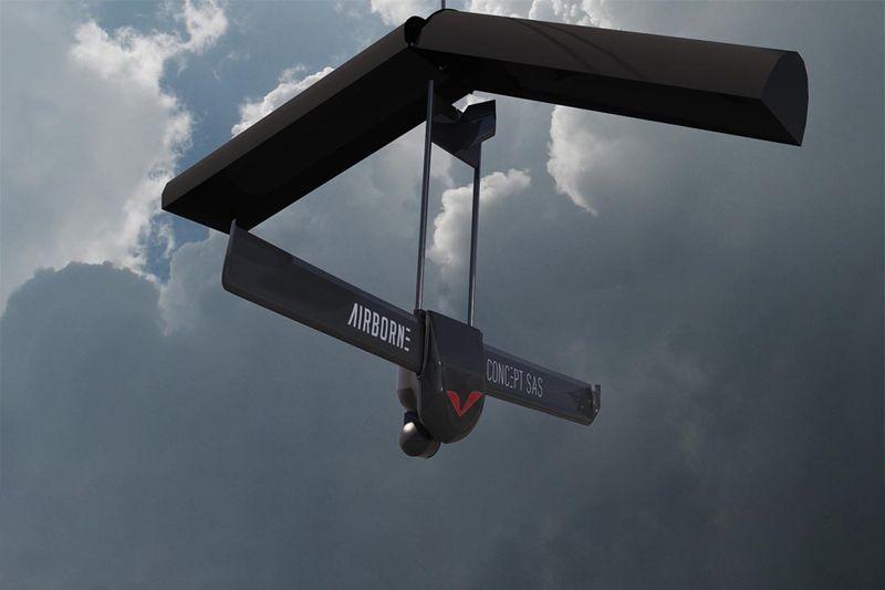 Drone aérolargué