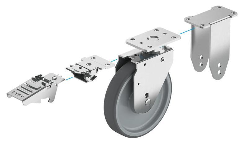 roulette pour AGV et systèmes de transport autonomes - null