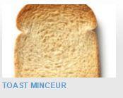 PRODUITS MINCEUR PRÊTS-A-CONSOMMER - Toast minceur