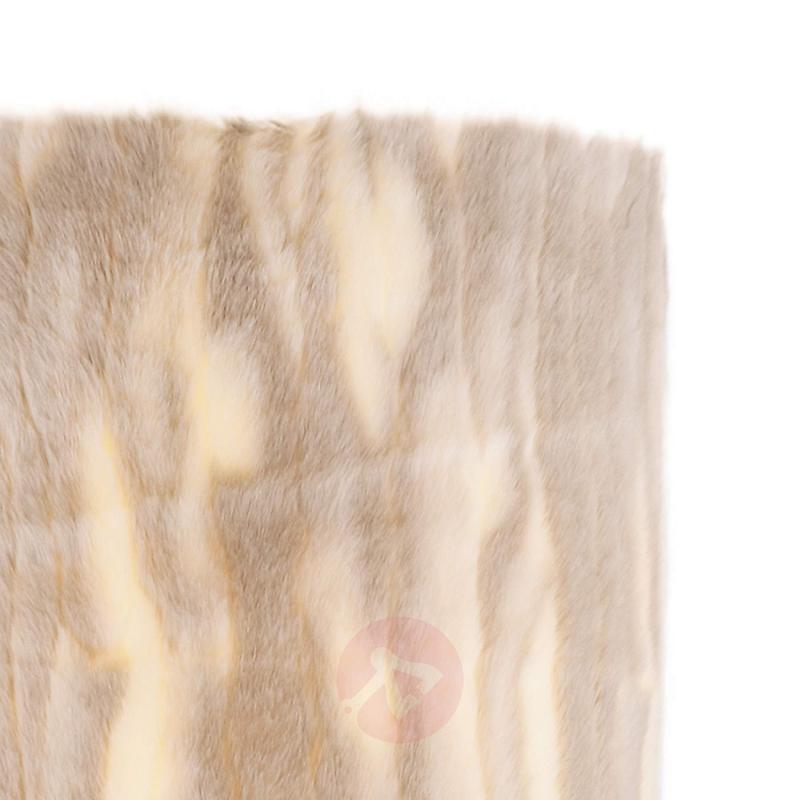Faux fur floor lamp Carmen - indoor-lighting
