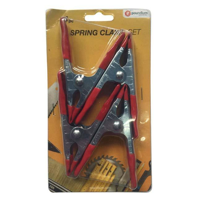 4 Pack Metal Spring Clamps - Pound Lines