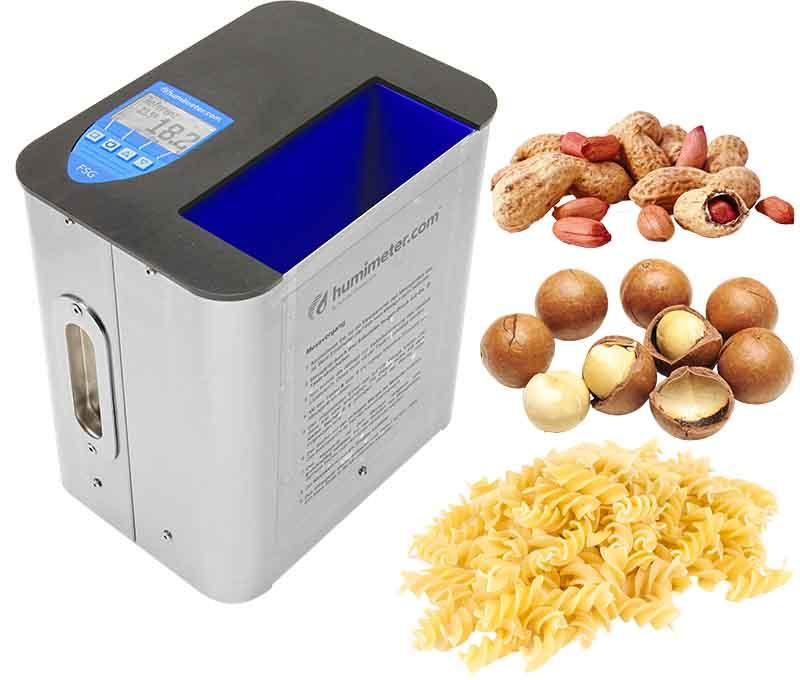 Nuts, noodles and food moisture meter - humimeter FSG