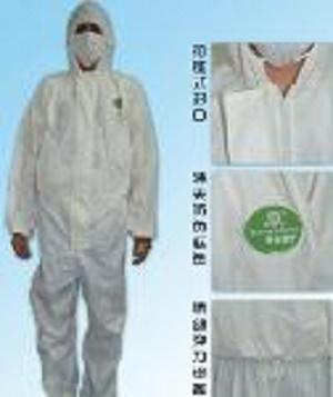 Bata desechable de PP - Color: azul, blanco, verde, amarillo Material: material no tejido de los PP / pe