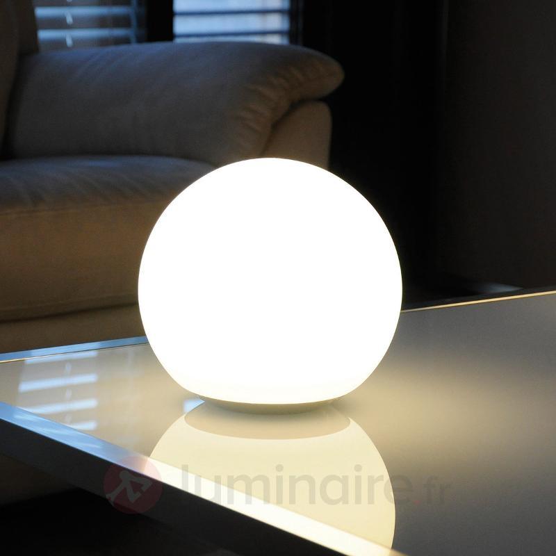 Lampe à poser Dahlia verre LED-RVB, télécommande - null