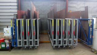 Platenstelling U-BOX: Gemotoriseerd - Opslag metalen platen