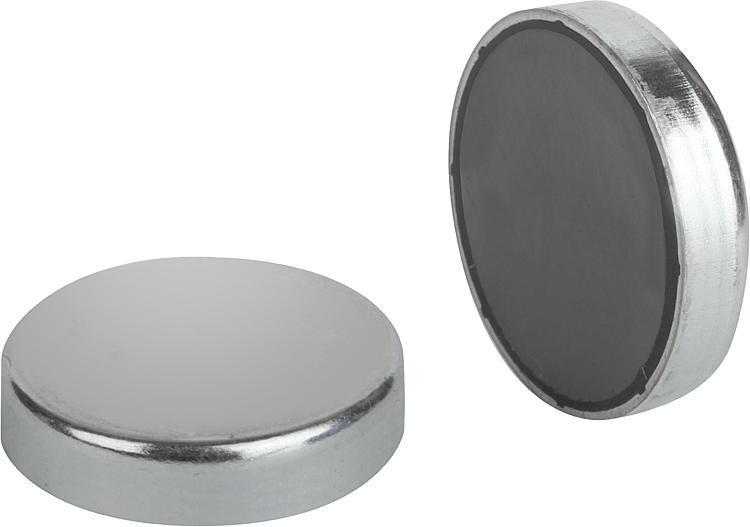 Magnets Shallow Pot Hard Ferrite - Magnets