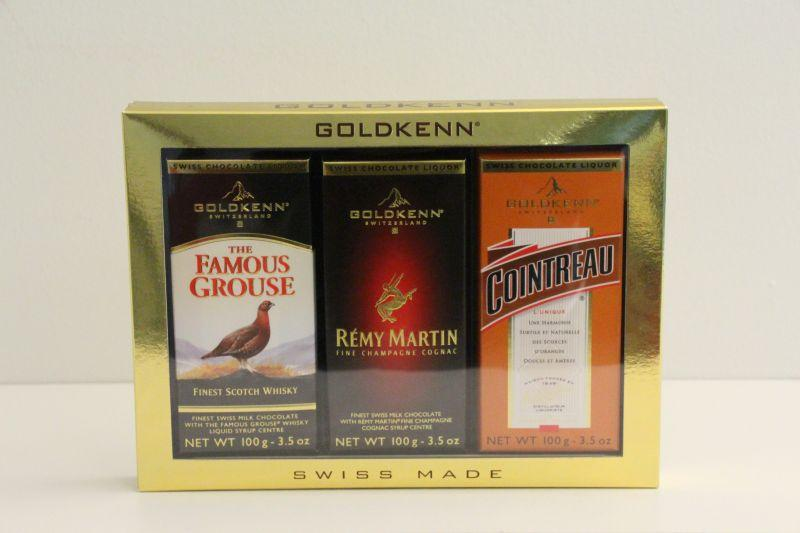 Goldkenn Assorted Swiss Milk Chocolate Liquor Bars -