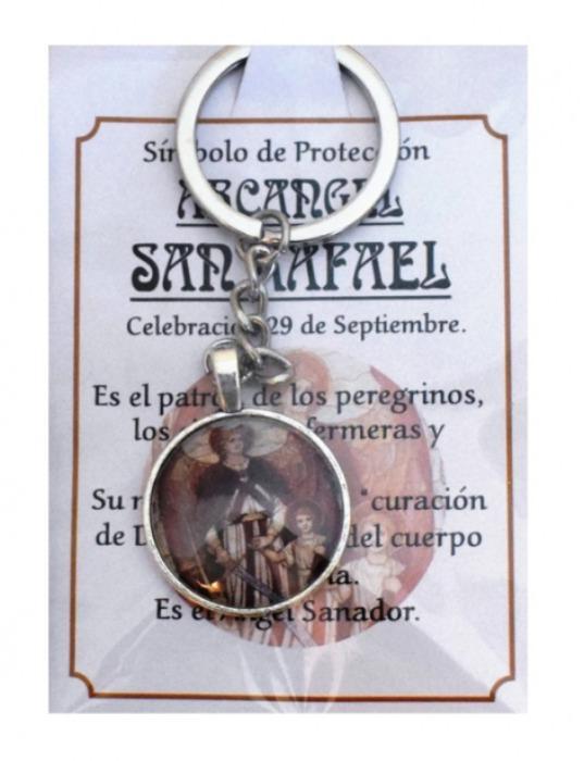 LLAVERO ARCÁNGEL SAN RAFAEL - AMULETO DE LA SUERTE