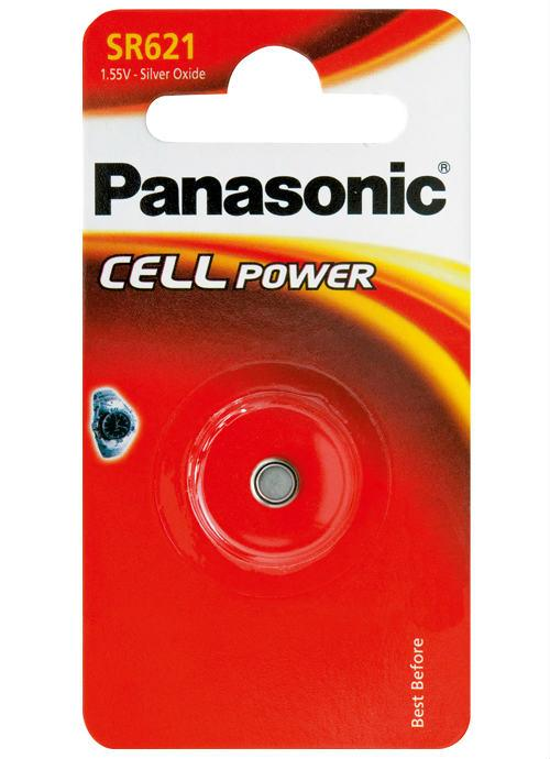 Microbatterie all'ossido d'argento SR621 - SR-621EL/1B | Blister da 1 microbatteria a bottone Panasonic