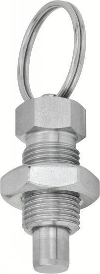 Doigt d'indexage - avec anneau, acier ou inox
