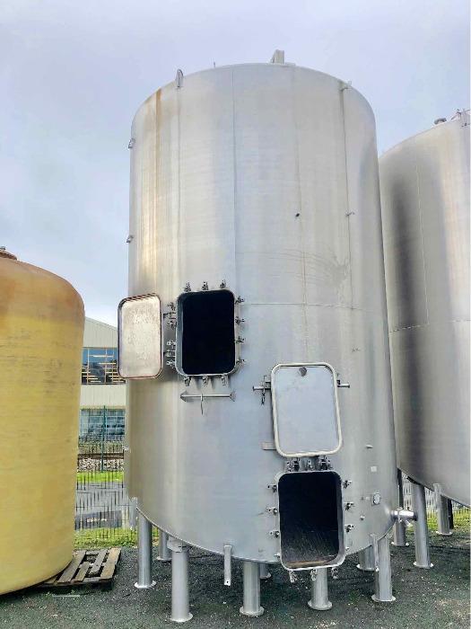 CARTIER - Tanque de aço inoxidável 304 - 350 HL - Fundo inclinado