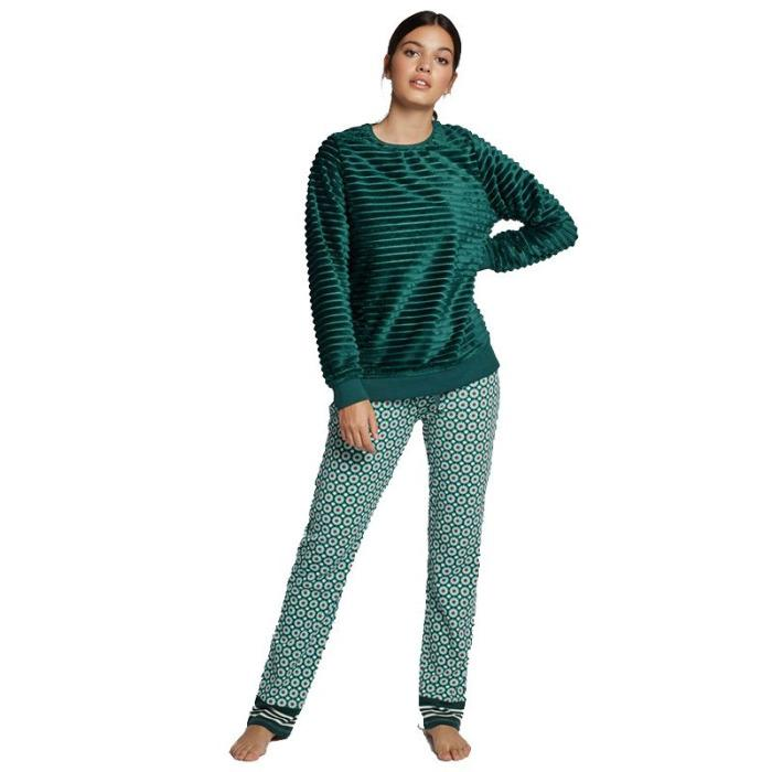 Pijama largo de peluche Gisela -