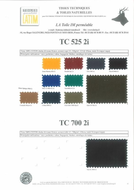 TC 525 2i & TC 700 2i - Toiles naturelles