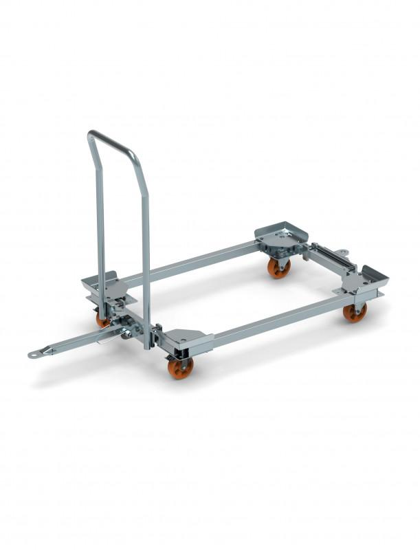 SMC-System Trolley - Fully assemled trolleys which can be used for tugger trains or milk-run-systems