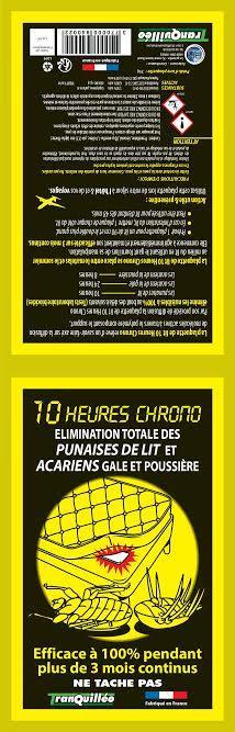 10 HEURES CHRONO ANTI PUNAISES DE LIT -