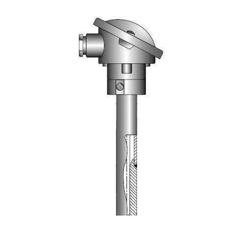 OPTITEMP TCA-P61 - Mineral-insulated thermocouple / flange / abrasion-resistant